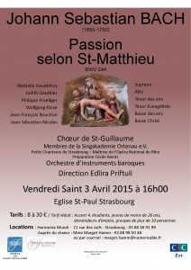 Affiche Passion SM 2015 St Paul